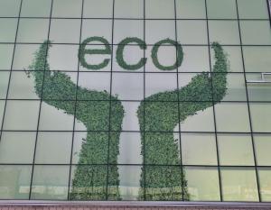 中玻(临沂)玻璃有限公司厂房幕墙,6超白彩绘+12A结+6白玻钢化中空